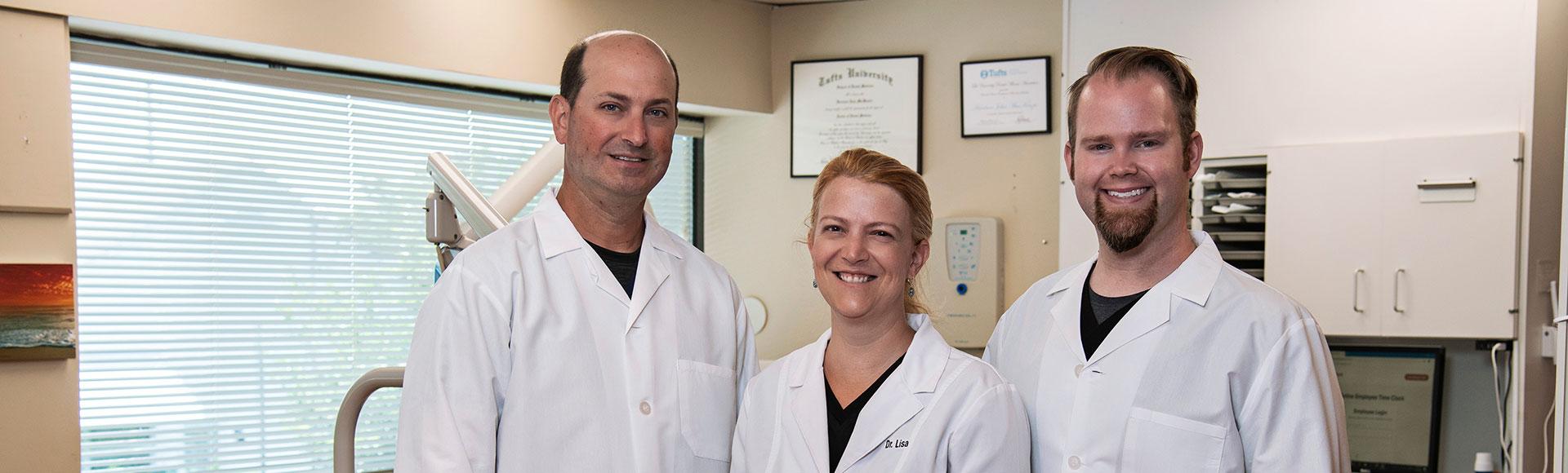 Dr Winkler, Dr Hipl, Dr MacKenzie, Franklin Dental Associates